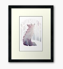 Fox in the Snow Framed Print