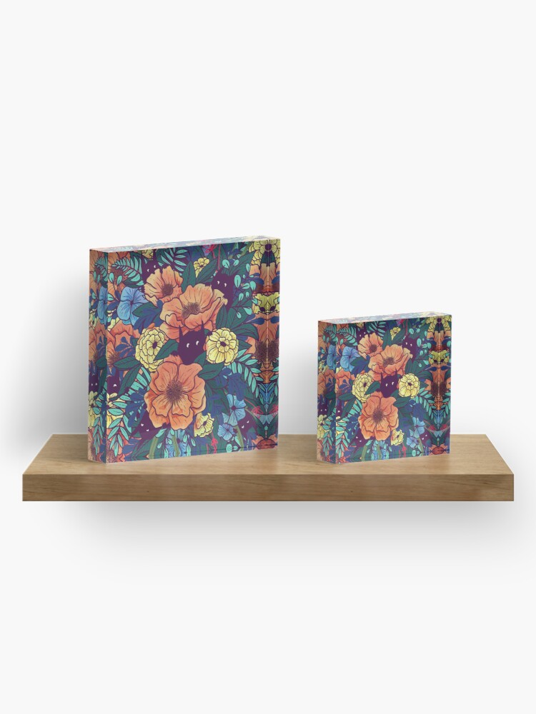Alternate view of Wild Flowers Acrylic Block