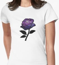 Galaxy Rose Womens Fitted T-Shirt