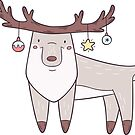 Christmas Deer by LydiaLyd