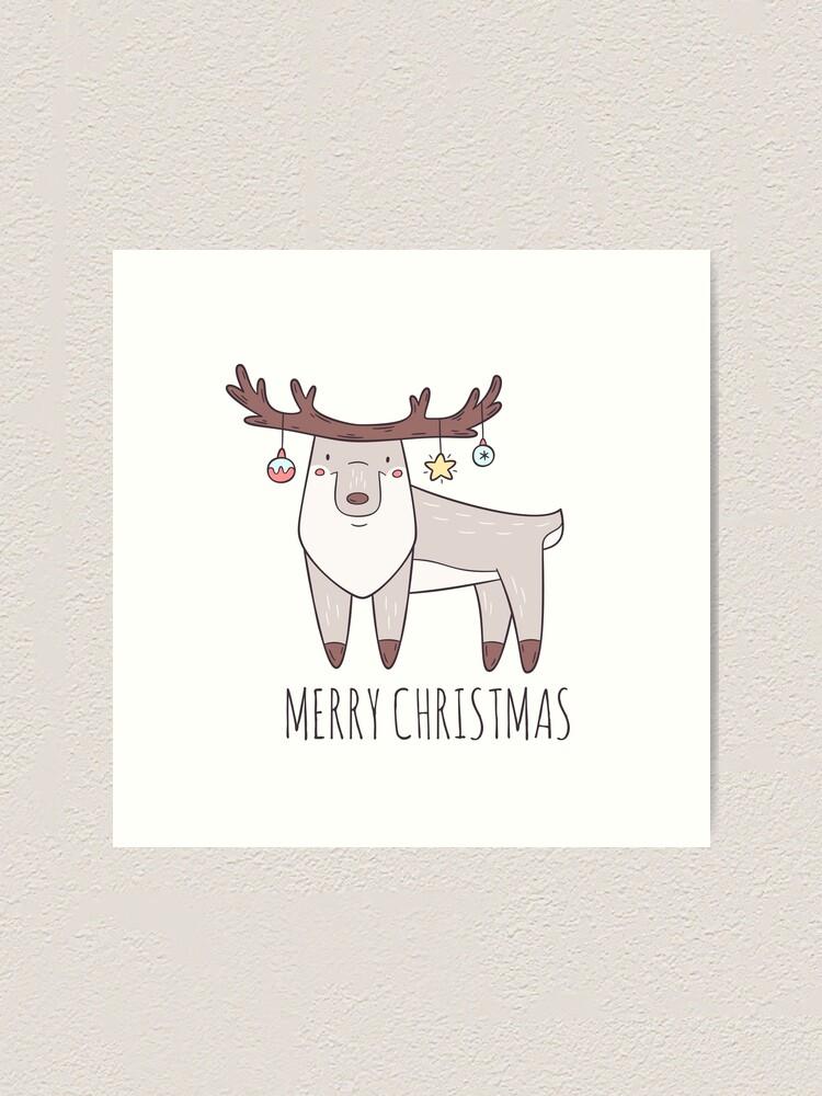 Alternate view of Christmas Deer Art Print