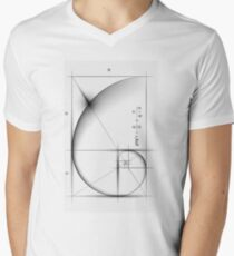 Golden Ratio - Large Men's V-Neck T-Shirt