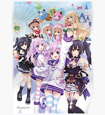 Hyperdimension Neptunia Re;Birth 2 main cast Poster