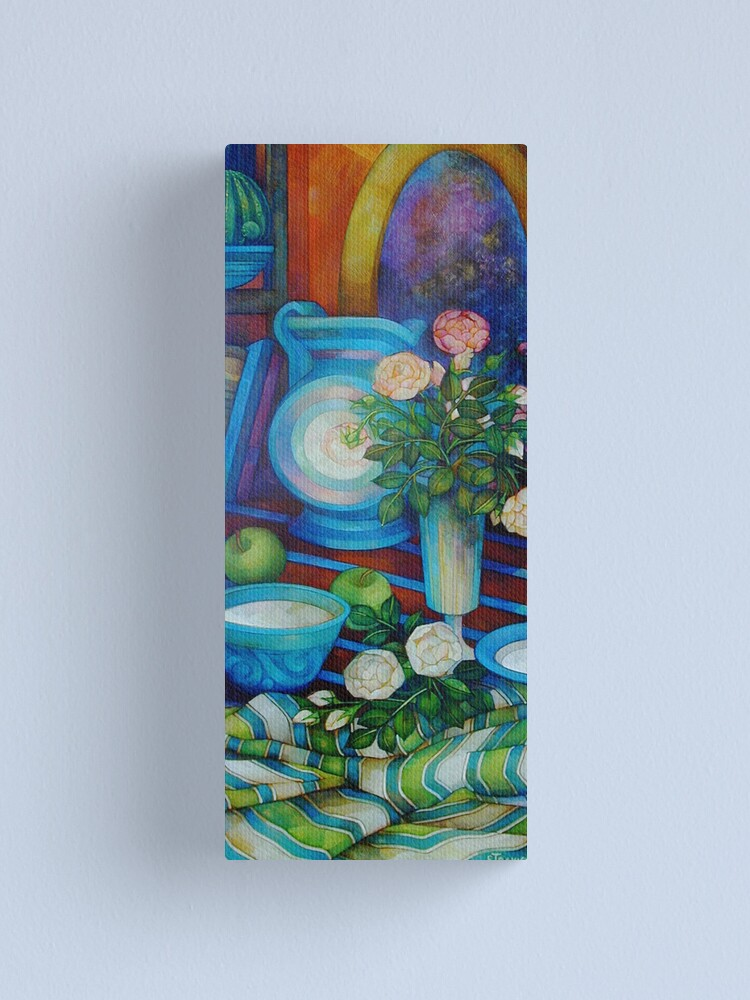 Alternate view of still-life with apples and roses Canvas Print