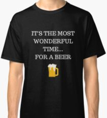 Wonderful Time for a Beer Funny Xmas Classic T-Shirt