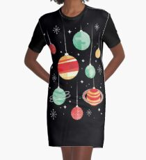 Joy to the Universe Graphic T-Shirt Dress