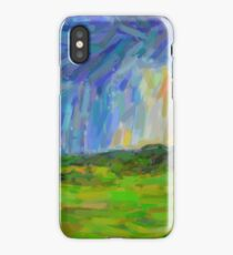 Abstract Stormy Landscape iPhone Case/Skin
