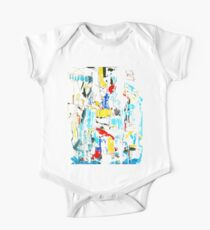 White, Yellow and Red abstract painting Kids Clothes