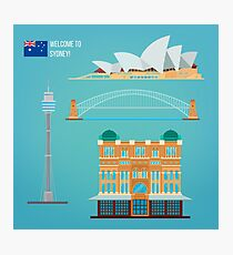 Sydney Architecture. Tourism Australia. Opera House. Sydney Buildings. Welcome to Sydney.  Photographic Print
