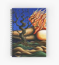 Journey Within - Original Art from Shee - Surreal Worlds Spiral Notebook
