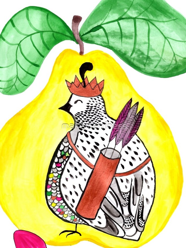 Quail in a Quince by makemerriness