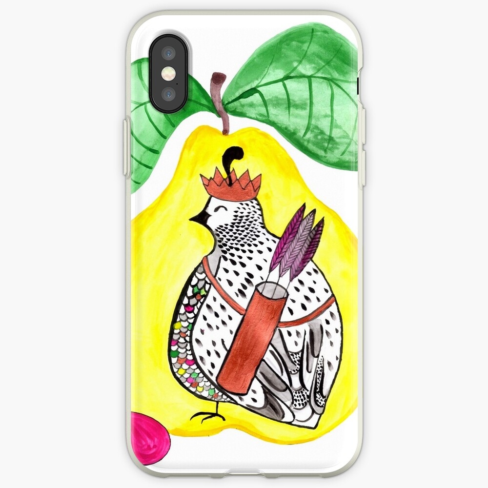 Quail in a Quince iPhone Cases & Covers
