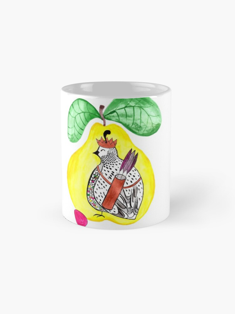 Alternate view of Quail in a Quince Mugs