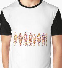 Sherlock squad silhouette tricolours - BBC Sherlock Graphic T-Shirt