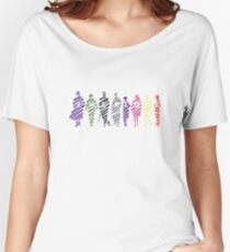 Sherlock squad silhouette multicoloured - Sherlock BBC Women's Relaxed Fit T-Shirt