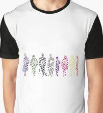 Sherlock squad silhouette multicoloured - Sherlock BBC Graphic T-Shirt