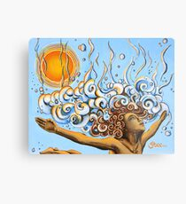 Balance of Life (cut) - Yoga Art from Shee - Surreal Worlds Metal Print