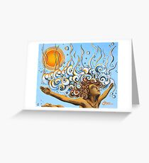 Balance of Life (cut) - Yoga Art from Shee - Surreal Worlds Greeting Card