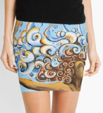Balance of Life (cut) - Yoga Art from Shee - Surreal Worlds Mini Skirt