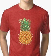 Christmas Pineapple Tree Tri-blend T-Shirt