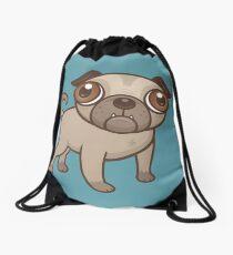 Pug Puppy Cartoon Drawstring Bag