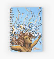 Balance of Life (cut) - Yoga Art from Shee - Surreal Worlds Spiral Notebook