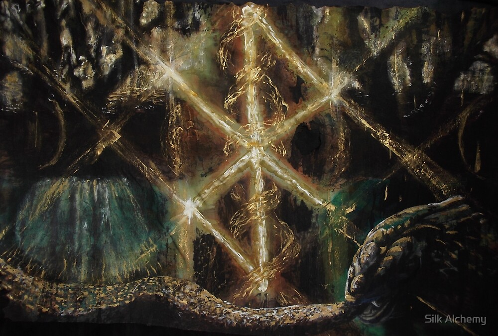 Runes in the Yggdrasil with Jormungand by Silk Alchemy