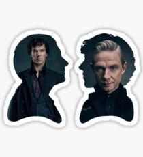 John and Sherlock silhouette - Sherlock BBC Sticker