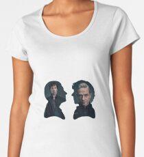 John and Sherlock silhouette - Sherlock BBC Women's Premium T-Shirt