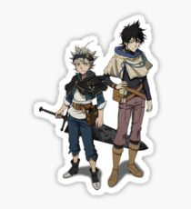 Black Clover Yuno Asta Anime Design Sticker