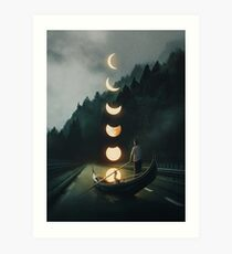 Moon Ride Art Print