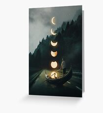 Moon Ride Greeting Card