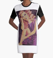 Afternoon Break Graphic T-Shirt Dress