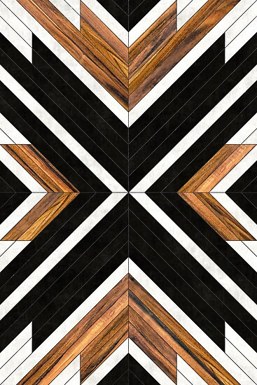 Quot Urban Tribal Pattern 1 Concrete And Wood Quot Posters By