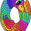Colourful Bird Number 0 by Shelly Still