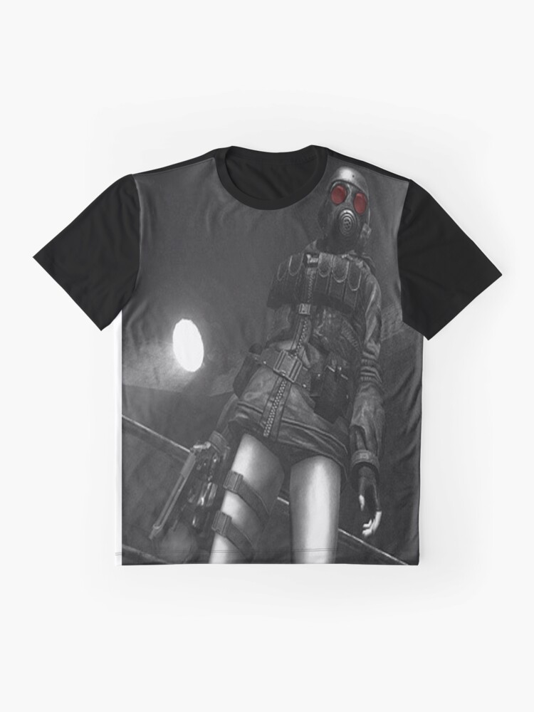 T-shirts Resident Evil Gas Mask Mens Black T Shirt Tops & Tees