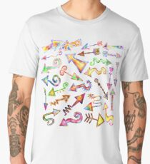 Watercolor Arrow Pointers Men's Premium T-Shirt