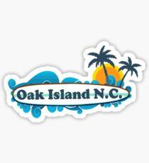 Oak Island - North Carolina. Sticker