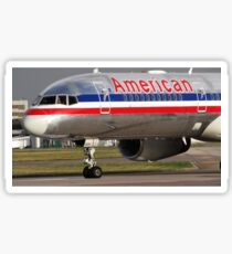 American Airlines 757 Close up at Manchester Sticker