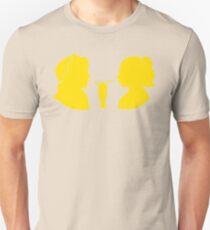 Milkshake Silhouette (J+B   Yellow) Unisex T-Shirt