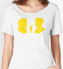 Milkshake Silhouette (J+A | Yellow) Women's Relaxed Fit T-Shirt