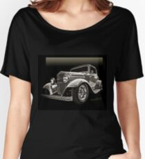 32 Ford Coupe Sketch of a Classic Street Rod Women's Relaxed Fit T-Shirt
