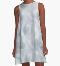 Fluffy Cotton Feel Cloud - Repeat Pattern A-Line Dress