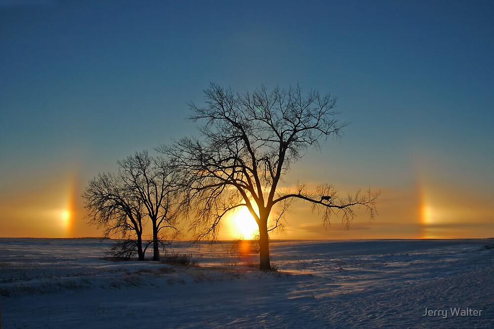 Sundogs at Sundown (Parhelia) by Jerry Walter