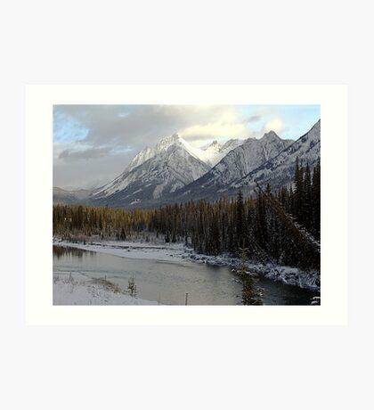 Early winter snowfall, Banff National Park Art Print