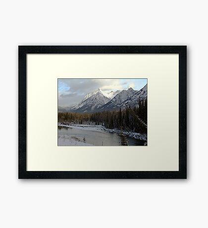 Early winter snowfall, Banff National Park Framed Print