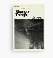 Segunda temporada Stranger things Canvas Print