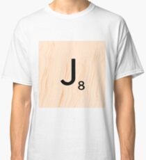 Scrabble Letter J - Full Alphabet Scrabble Tile Art Classic T-Shirt