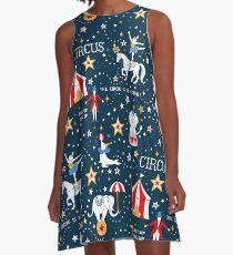 Retro Circus A-Line Dress
