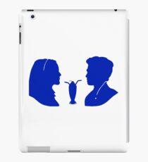 Milkshake Silhouette (V+A | Blue) iPad Case/Skin